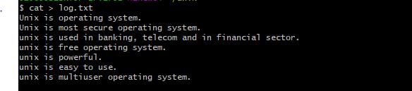 grep command log file