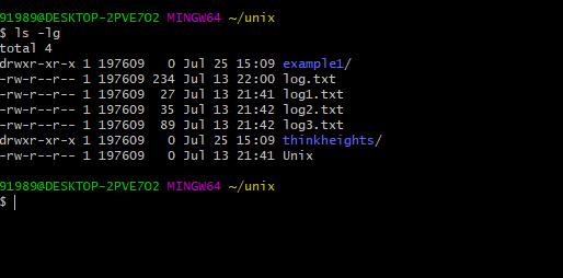 ls command example