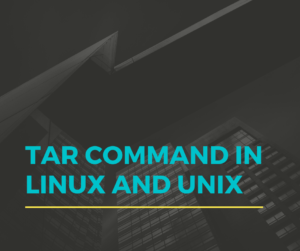 Tar Command in Linux